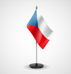 Table flag of Czech Republic vector