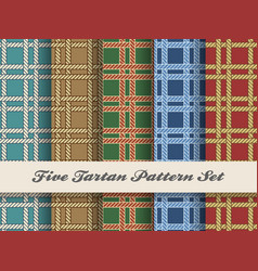 tartan pattern set vector image