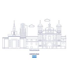Tegucigalpa city skyline vector