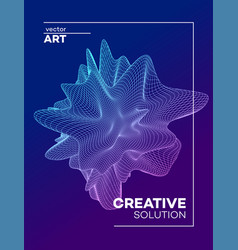 trendy abstract poster background with dynamic vector image
