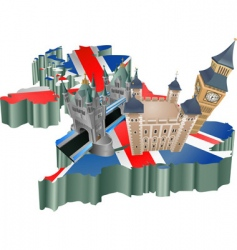 united kingdom tourism vector image