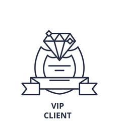 vip client line icon concept vip client vector image