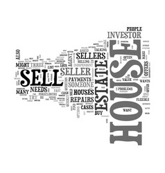 Why sell your house to an investor text word vector
