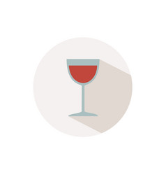 wine glass icon with shadow on a beige circle fall vector image