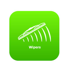 Wipers icon green vector