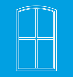 wooden window icon outline vector image