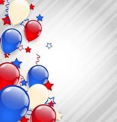 American background with colorful balloons for 4th vector image vector image