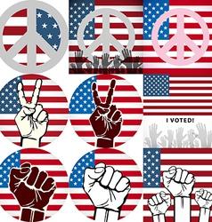 artVote pin with USA flag vector image