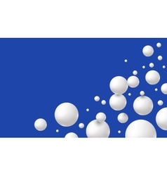 Drops of milk or yogurt on blue background vector image