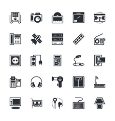 Electronics icons 4 vector