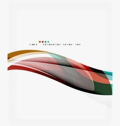 elegant wave background vector image vector image