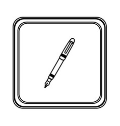 figure emblem ballpoint icon vector image