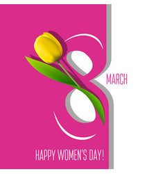 greeting card for 8 march vector image