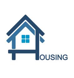 housing design symbol vector image