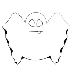 isolated cute ghost vector image