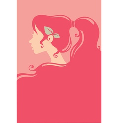 pink beauty vector image