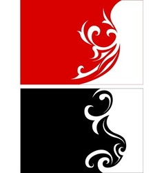 Red And Black Floral vector image vector image
