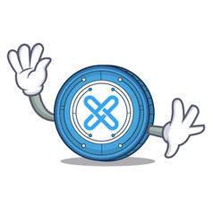 waving gxshares coin character cartoon vector image vector image