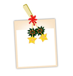 Blank Photos with Golden Stars vector image vector image