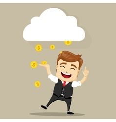 business man smile vector image vector image