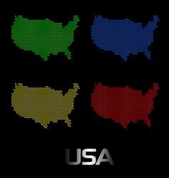 Digital USA Map vector image vector image