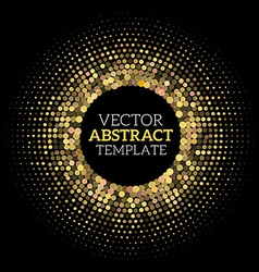 Disco halftone vector image vector image
