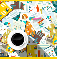 paperwork background top view forms tax and vector image