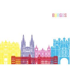 burgos skyline pop vector image vector image