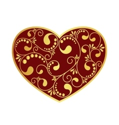 ornamental heart isolated vector image
