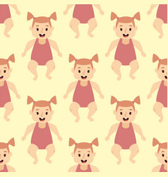 seamless pattern with babies kids happy colorful vector image