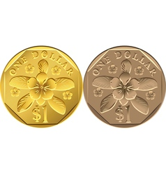 singapore dollar coins vector image