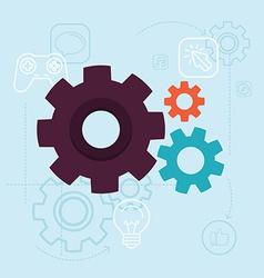 app development concept in flat style vector image vector image