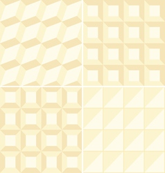 Beige geometric patterns vector image