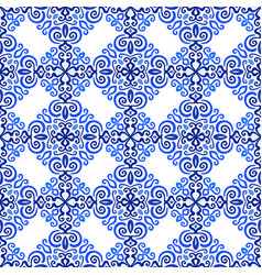blue background luxury weave pattern vector image vector image