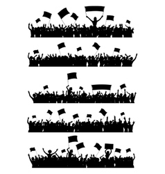 Cheering Crowd Set vector image vector image