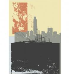 city grunge art vector image