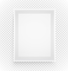 Empty picture frame isolated on transparent vector image