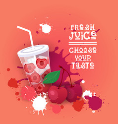 fresh juice logo healthy vitamin drink bar vector image vector image