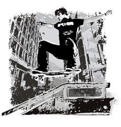 grunge street skater vector image