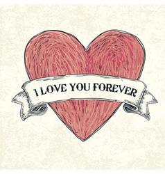 i love u 4ever vector image vector image