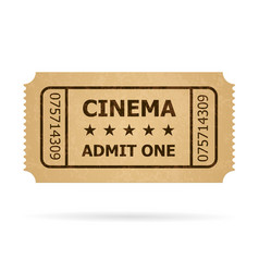 retro cinema ticket of designer on a white vector image