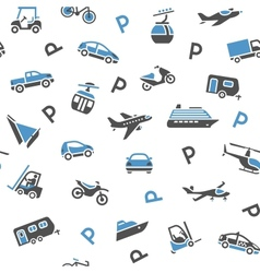 Seamless backdrop transport icons vector image vector image