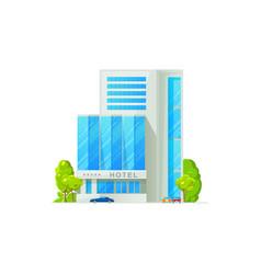 5 star hotel building facade exterior isolated vector