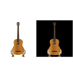 acoustic guitar in hand vector image