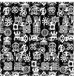 african adinkra pattern vector image