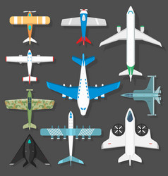 aircraft different plains top view vector image
