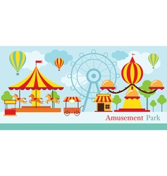 Amusement Park Carnival Fun Fair vector