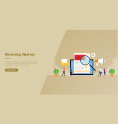Arketing strategy business people search market vector