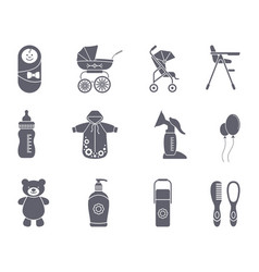 baby icon set vector image