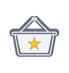 Best shopping icon with a star concept vector